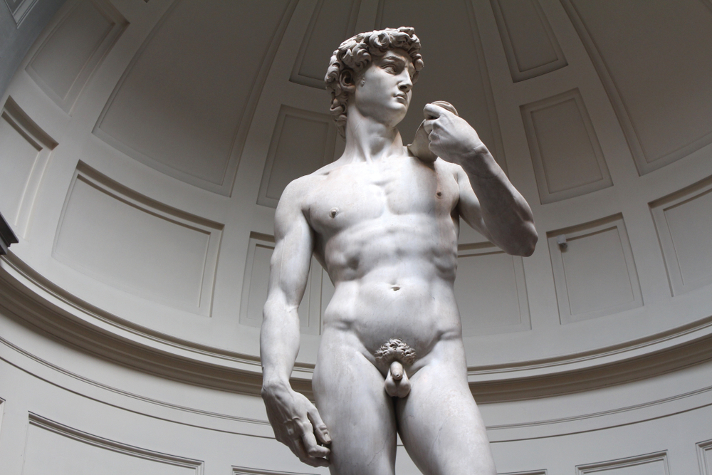 [A] Where can you see the statue of David?