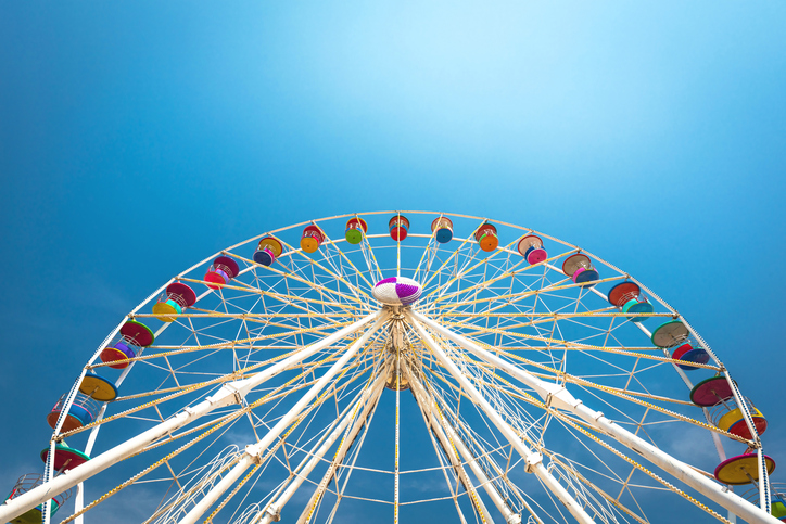 [A] Which country built the largest indoor Ferris wheel?