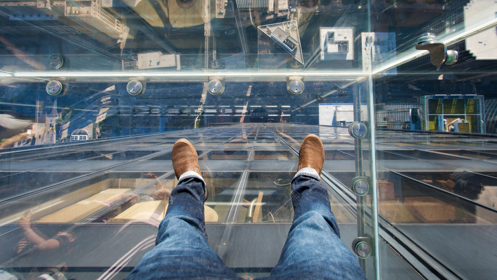 [A] What observation tower has the world's first revolving glass floor?